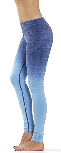 Prolific Health Fitness Power Flex Yoga Pants Leggings   All Colors   Xs   Xl  Large  Ombre Dark Blue