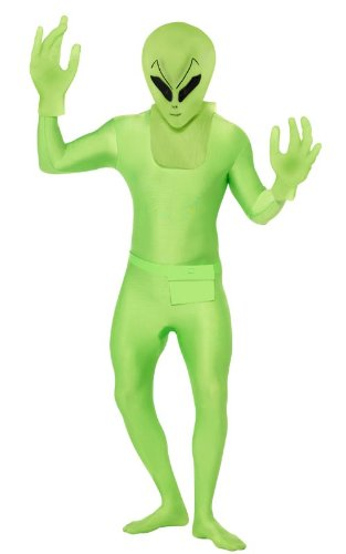 Green Alien Skin Suit - Smiffy's Alien Costume, Green, Medium