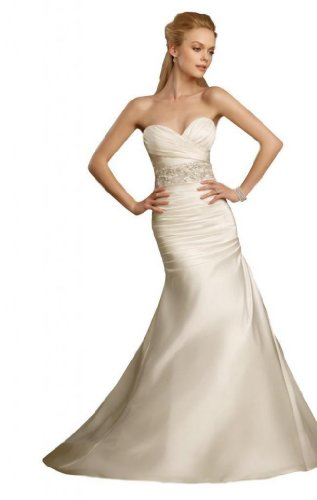 Fantastic Bridal Wedding Dress (Dearta Women's Mermaid Sweetheart Court Train Wedding Dress US 8)