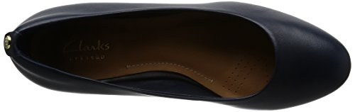 a Clarks Vendra Sandalias Mujer con Azul para Leather Cu Bloom Navy F6X64qRnwT