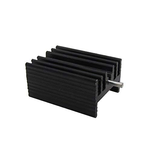 Easycargo TO-220 Heatsink + Insulator/Mounting kits (TO220 Heat sink +Screw+Washer+Bushing+Insulator rubberized Silicone) for LM78XX voltage regulator, MOSFET transistor 20mmx15mmx11mm (Black 20 pack) by Easycargo (Image #3)