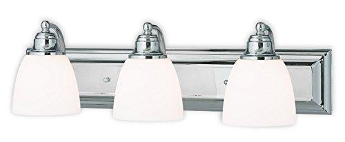 Livex Lighting 10503-05 Chrome Bath Vanity with Satin Opal Glass