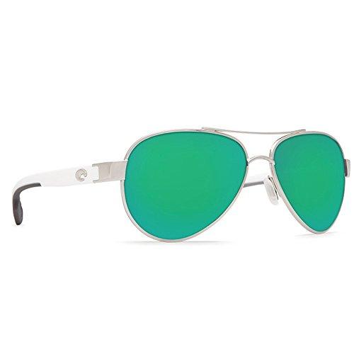 Costa Del Mar Men's Loreto Sunglasses Palladium Green Mirror