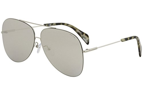 Sunglasses Police GOLDENEYE 3 SPL406 579X Unisex Silver Aviator Silver - Eye Glasses Golden
