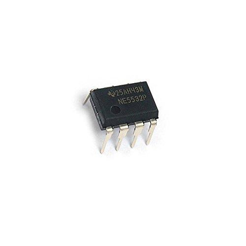 Industry Park 10Pcs NE5532P NE5532 DIP-8 Dual Low Noise Op-Amp TI IC