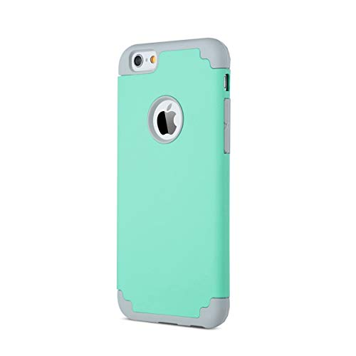 AILUN Phone Case Compatible with iPhone 6s,iPhone 6,Soft Interior Silicone Bumper&Hard Shell Solid PC Back,Shock-Absorption&Skid-Proof,Anti-Scratch Hybrid Dual-Layer Slim Cover[Green]
