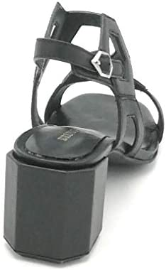 Bruno Premi Bz0305 Sandalo Nappa Nero Cinturini Tacco 5 Cm Esagonale W - Taglia Scarpa 40 Eu Colore