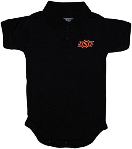 Creative Knitwear Oklahoma State University OSU Buckeyes Newborn Polo Bodysuit, Black, 3-6 Months