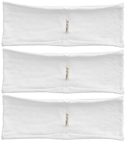 Absolute Yogi 3-pack White hBAND single layer unfinished edge Yoga headbands Review