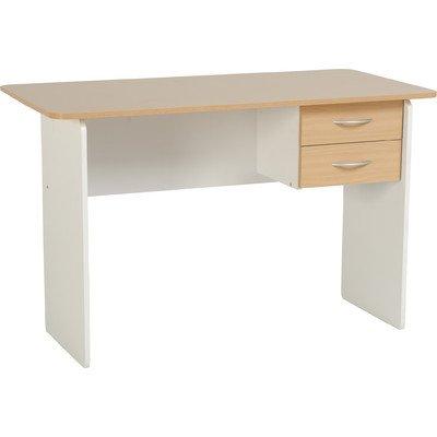 Jenny 2 Drawer Study Writing Desk Finish: Beech / White