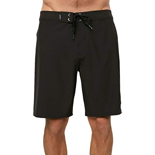 (O'Neill Men's Hyperfreak Solid Boardshorts Black 34)