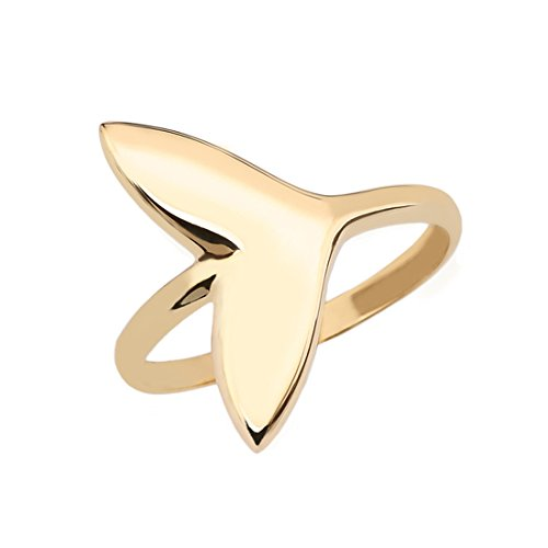 Dolphin Whale Tail Wrap Ring in Fine 14k Yellow Gold (Size 9) 14k Yellow Gold Whale