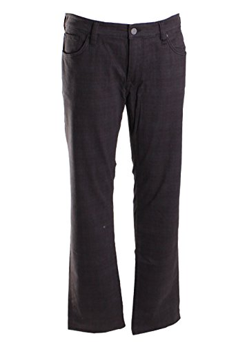 34 Heritage Men's Courage Charcoal Plaid Jeans (Charcoal, 40 x 34)
