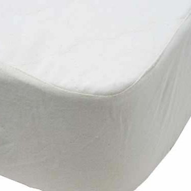 LIFEKIND Breathable Organic Cotton Flannel Crib Mattress Protector Pad (Fitted) Made in the USA