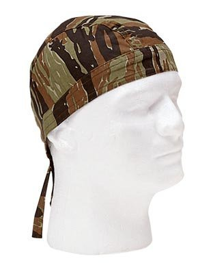 (Tiger Stripe Camo Head Wrap Do-rag (2 Pack) )