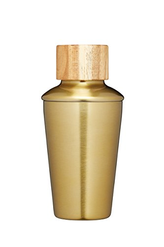 Barcraft Mini Metal Cocktail Shaker, 250ml (9 Fl Oz) - Brass Finish