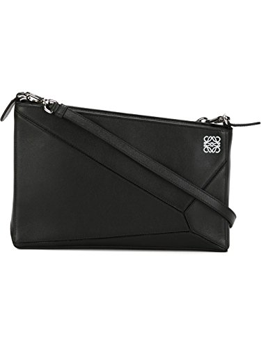 loewe-womens-32289m871100-black-leather-shoulder-bag