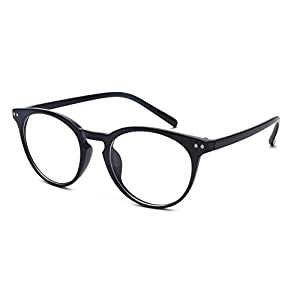 Outray Vintage Inspired Small Nails Round Clear Lens Glasses 2169c1 Black