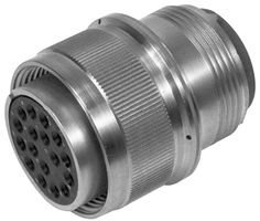 Circular Connector, MIL-DTL-5015 Series, Straight Plug, 7 Contacts, Crimp Pin, Threaded, 16S-1