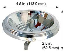 Halogen Ceiling Lights 35AR111/SSP4/6V Super Spot (Case of 10)