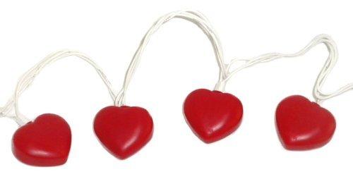 8' Heart Light Set - Valentine Heart Shaped String Light Set