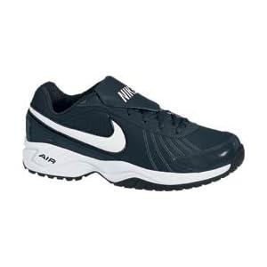 Men's Nike Air Diamond Baseball Training Shoe Black/Metallic Silver/White Size 10.5 M US