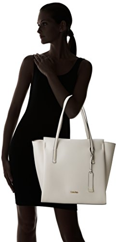 Cement Shopper Calvin Frame White Women's Klein Large Tote IU407T