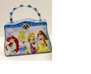 Disney Classic Purse Princess Group Blue Tin Box New Gifts Toys 870147-1