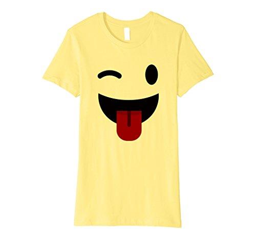 Womens Halloween Emoji Costume Shirt for Adult Boys Girls Small (Emoticon Halloween)