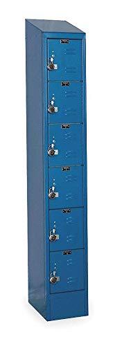 (Marine Blue Box Locker, (1) Wide, (6) Tier, Openings: 6, 12