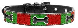 Mirage Pet Products Christmas Ice Cream Dog Collar, Large, Enamel Bone