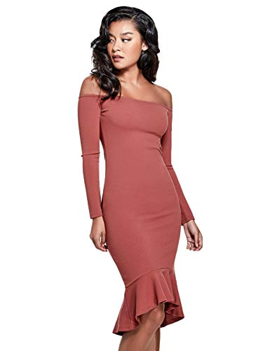 GUESS Factory Women's Jelena Off-The-Shoulder Long-Sleeve Mermaid Dress from GUESS Factory