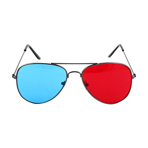 Uxcell a10111700ux0001 Metal Arms Anaglyph 3D Eyeglasses