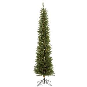 Vickerman Pre-lit Durham Pole Pine Tree with 200 Clear Dura-Lit Lights, 6.5-Feet, ()