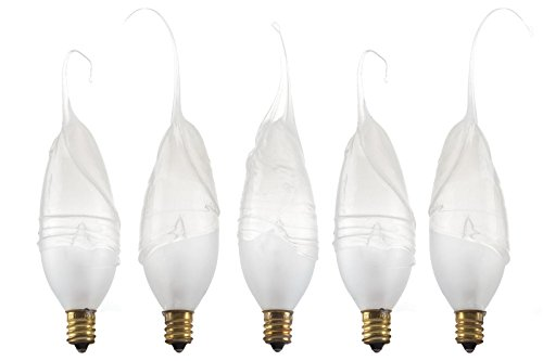 Wish Designs USA Silicone Dipped Hand Dipped Light Bulb, Frosted, 40 watt, 5 bulb quantity, #40w5pk