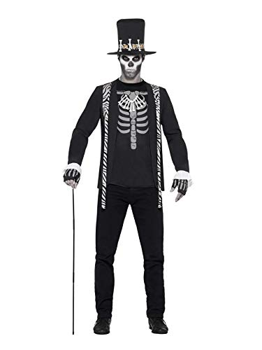 (Smiffys Men's Witch Doctor Costume, Jacket, Mock T-Shirt, Hat, Necklace and Gloves, Legends of Evil, Halloween, Size M,)
