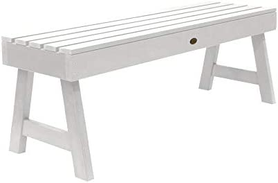 Strange Highwood Weatherly Backless Bench 4 Feet White Ibusinesslaw Wood Chair Design Ideas Ibusinesslaworg