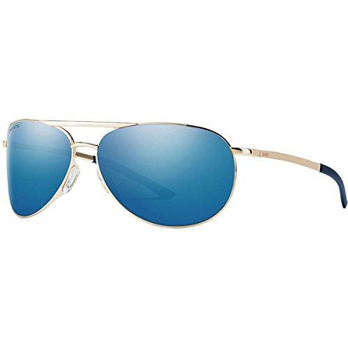 Smith Serpico Slim 2 ChromaPop Polarized Sunglasses, Gold, Blue Mirror - Serpico Slim Sunglasses