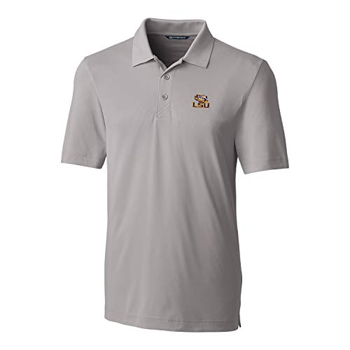 Cutter & Buck NCAA LSU Tigers Short Sleeve Solid Forge Polo, Large, Polished -