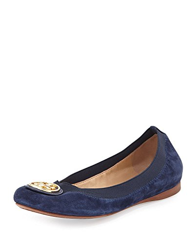 Tory Burch Reva Womens Leather Flats Shoes - 9