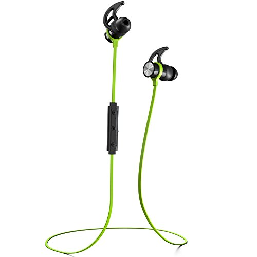 Phaiser BHS 730 Bluetooth Headphones Headset Sport Earphones with Mic and Lifetime Sweatproof Guarantee   Wireless Earbuds for Running Limegreen