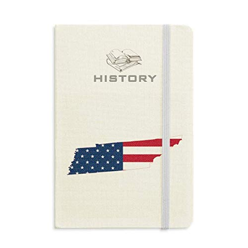 Tennessee USA Map Stars Stripes Flag Shape History Notebook Classic Journal Diary A5 ()