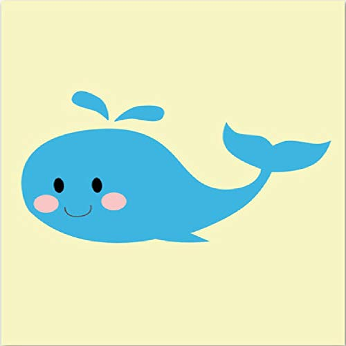 (SCLPOSTER Posters Cartoon Whale Ice Cream Pear Smiling Face Wall Art Canvas Painting Wall Pictures for Kids Room Decor,A)