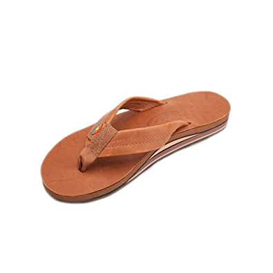 Rainbow Sandals Men's Double Layer Leather Sandal,X Large / 10.5-12 D(M) US,Classic Tan Brown