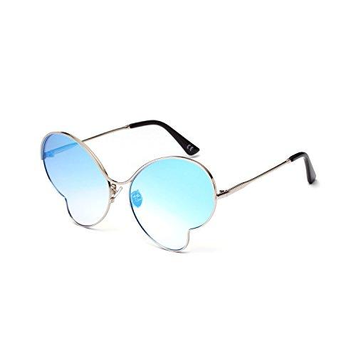 de Gafas Clásico UV400 Aire polarizadas Polarizado Portección metálico Sunglasses Sol Libre Unisex Vintage Redondo al inspirado dfqBfzr