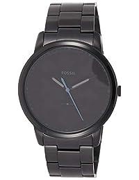 Fossil Men 's fs5308el tres manecillas minimalista negro reloj de acero inoxidable