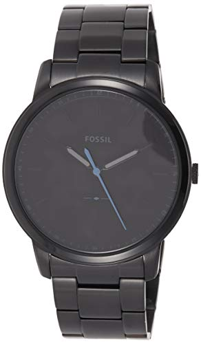 Fossil Men's The Minimalist Quartz Stainless Steel Dress Watch, Color: Black (Model: FS5308) (Watches For Men All Brands)