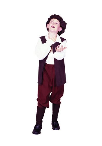 RG Costumes Renaissance Boy Costume, Brown/White, Large (Renaissance Halloween Costume)