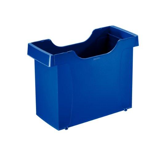 Esselte Leitz 19080035 Uni-Box plus - Archivio per cartelle sospese A4, in polistirolo, colore: Blu