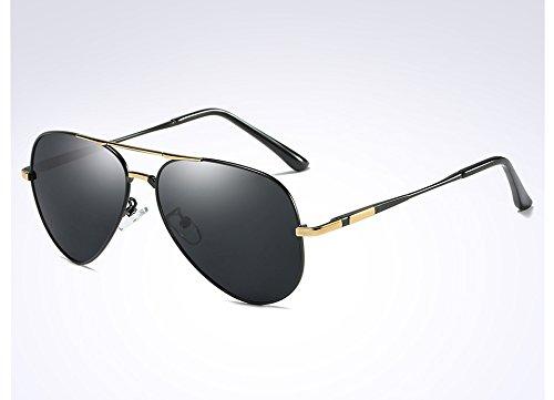 polarizadas Guía black para UV400 Gafas Sunglasses gold gray de Sol Gafas de Hombres Brown Lujo HD TL Sombras ZI8gxwqx